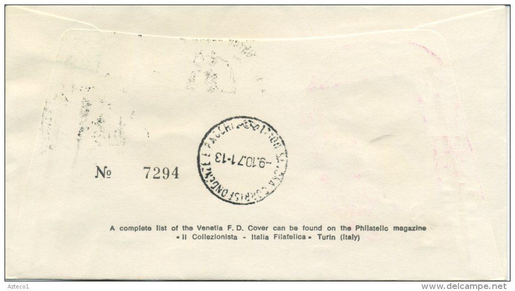 ITALIA - FDC  VENETIA 1971 - DELEDDA - ANNULLO SPECIALE - VIAGGIATA PER SAVONA - F.D.C.