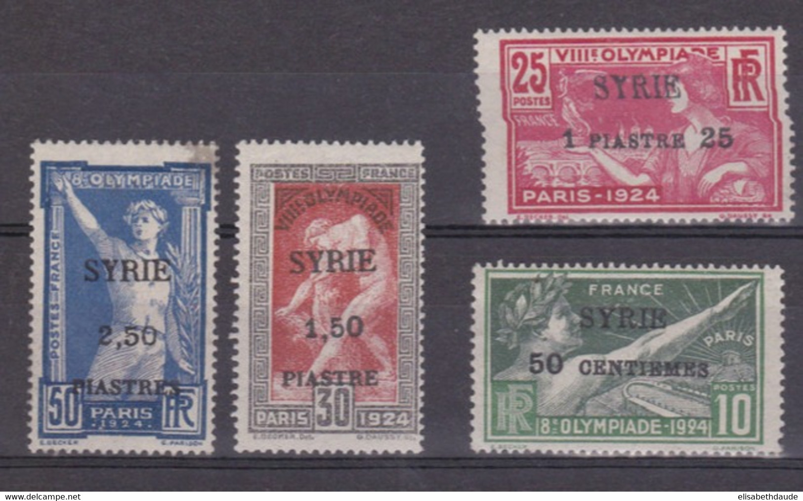 SYRIE - 1924 - JEUX OLYMPIQUES - Yvert N° 122/125 *  - COTE = 168 Euros - Unused Stamps
