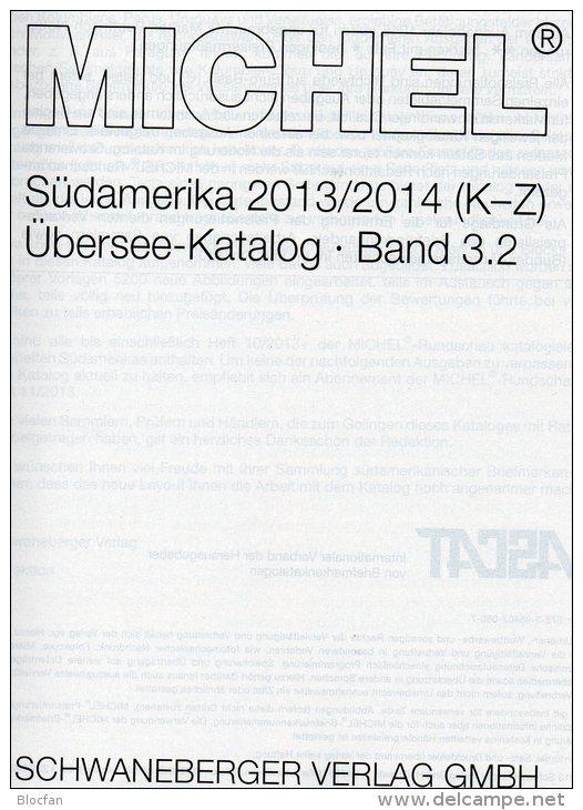 Südamerika Band 3/2 K-Z MICHEL Stamp Catalogue 2014 New 79€ II: Paraguay Peru Surinam Uruguay Catalogue Of South-America - German