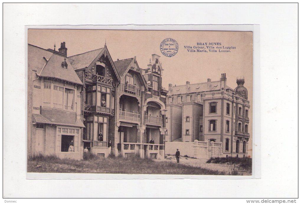 Bray-Dunes ( Nord  ), Villa Grisar ,  Des Loggias,  Maria, Louise - France