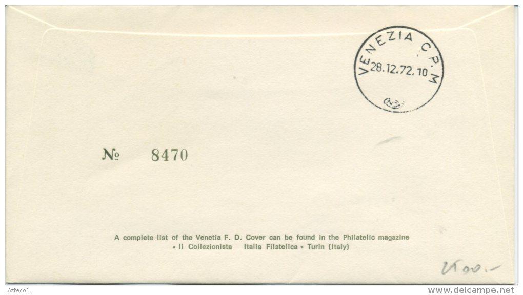 ITALIA - FDC VENETIA 1972 - LEON BATTISTA ALBERTI - VIAGGIATA PER VENEZIA - F.D.C.