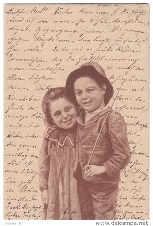 AK - Kinderpaar 1902 - Szenen & Landschaften