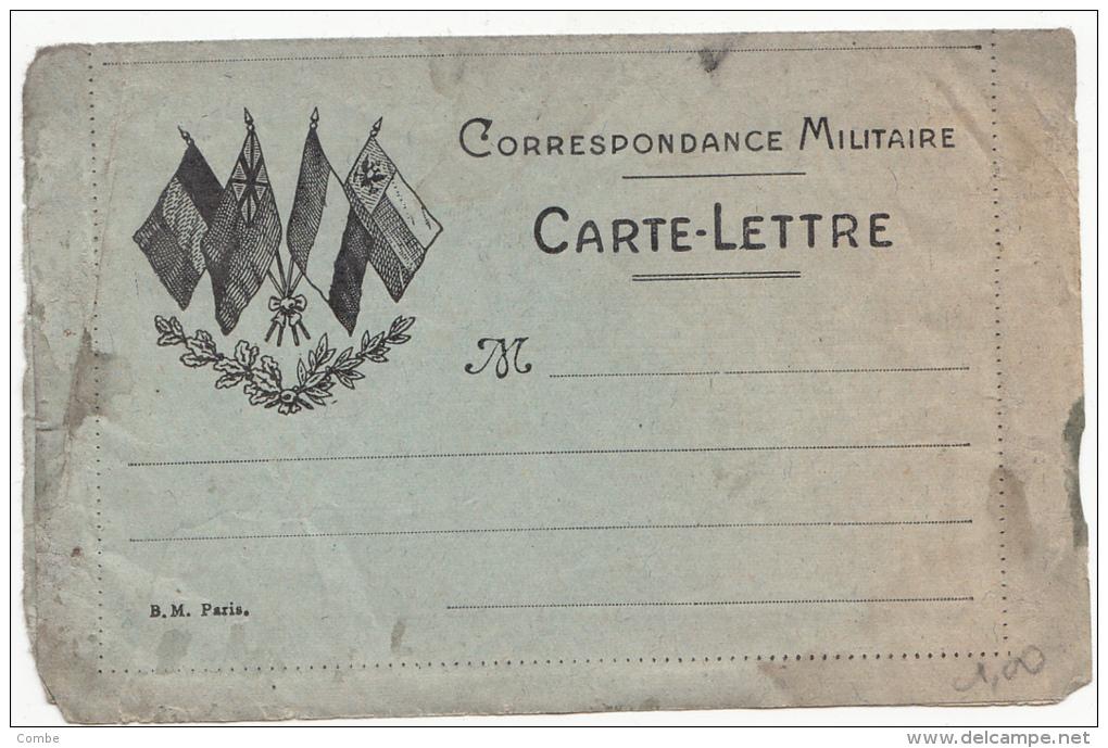 Carte-Lettre Aux Drapeaux/ 1736 - Poststempel (Briefe)