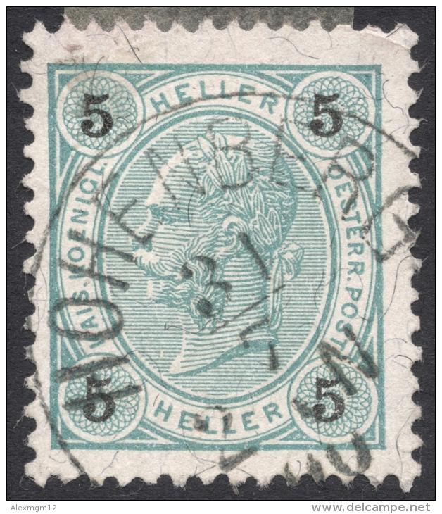 Austria, 5 H. 1899, Sc # 73, Mi # 72A, Used - 1850-1918 Empire
