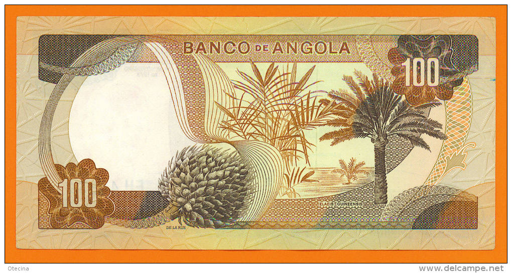 # ANGOLA 100 Escudos 24 Novembre 1972  P101  (Marechal Carmona) TTB++ - Angola