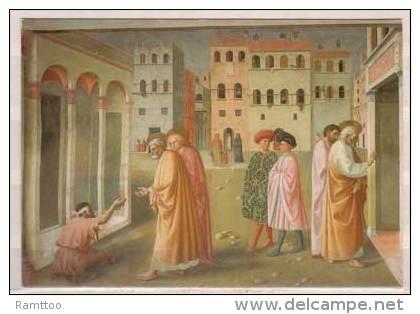 Firenze , Chiesa Del Carmine , Masolino E Masaccio , Guarigione Dello Storpio E Resurrezione Di Tabita , Particolare - Kirchen U. Kathedralen