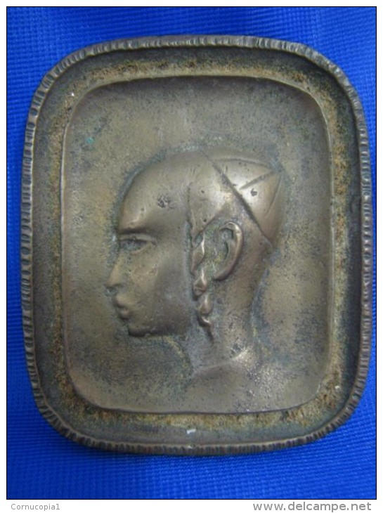 "\""""YEMENITE BOY\"" BRASS PORTRAIT PAL BELL ISRAEL - Bronzes"