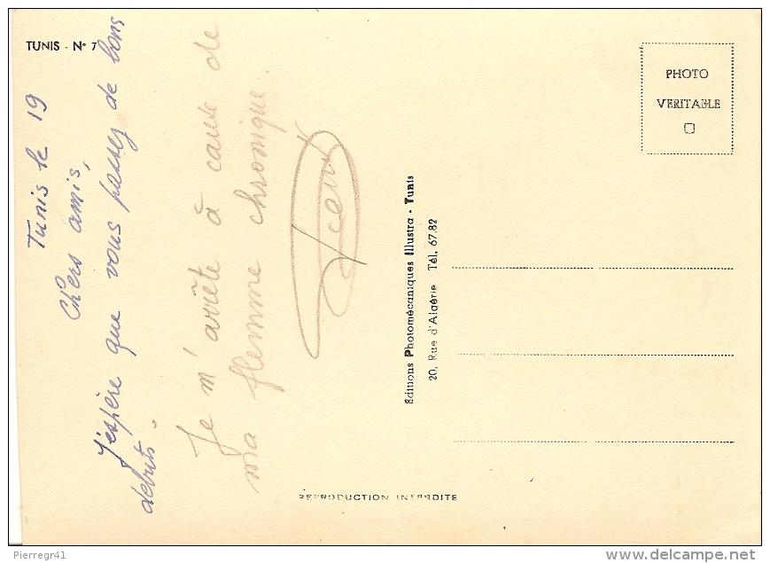 CPA-1950-TUNISIE-TUNIS-PERSPECTIVE AVENUE JULES FERRY- -TBE - Tunisie