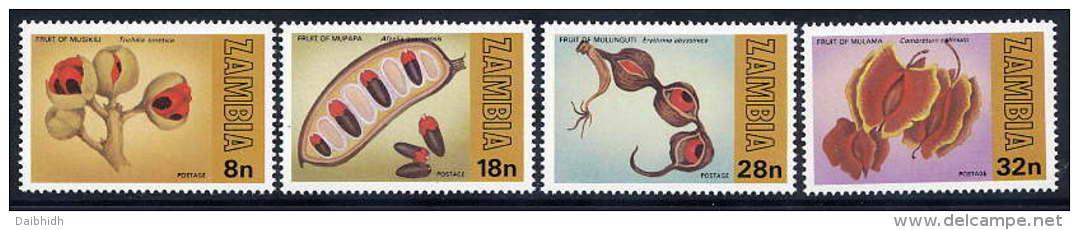 ZAMBIA 1981 World Forestry Day Set Of 4 Values MNH / **.  SG 329-32 - Zambia (1965-...)