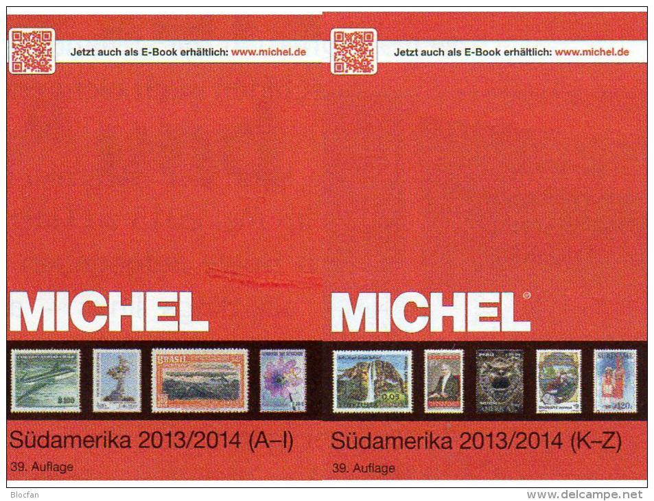 MlCHEL South-America Part 3/1+ 3/2 A-Z Stamps Catalogue 2014 New 158€ Brazil Chile Ecuador Paraguay Peru Surinam Uruguay - Deutsch