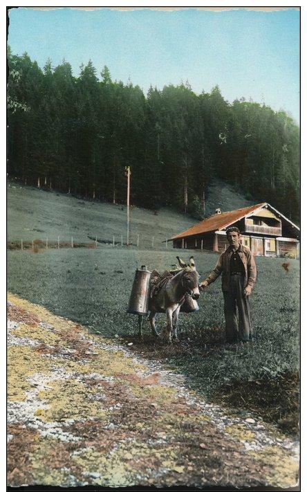 39 Ou 25 : La Franche Comté Pitoresque, Le Descente Du Lait Depuis Les Fermes, Avec Fermier, Anes Et Bouilles - Fermes