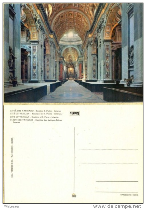 Ak Vatikan -  Basilika S. Pietro,Kirche,church, Eglise - Innenaufnahme - Kirchen U. Kathedralen