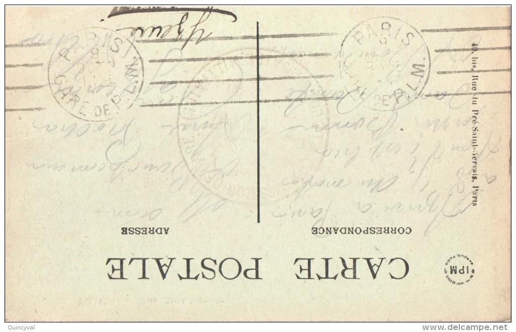 2627 Carte Postale En Franchise Ob Paris Gare De P.L.M.Ob Krag Dreyfus C5201 - Mechanical Postmarks (Other)