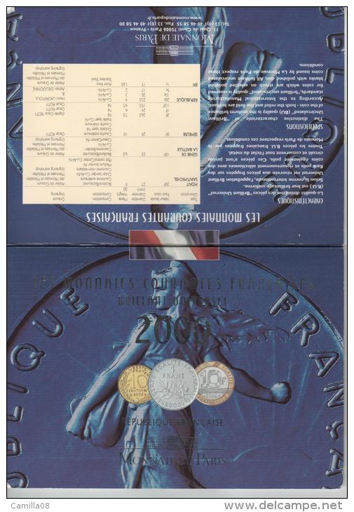 SERIE BU 2000. DE LA 1 CT A LA 20F. TRES JOLIES .MONNAIES. - France