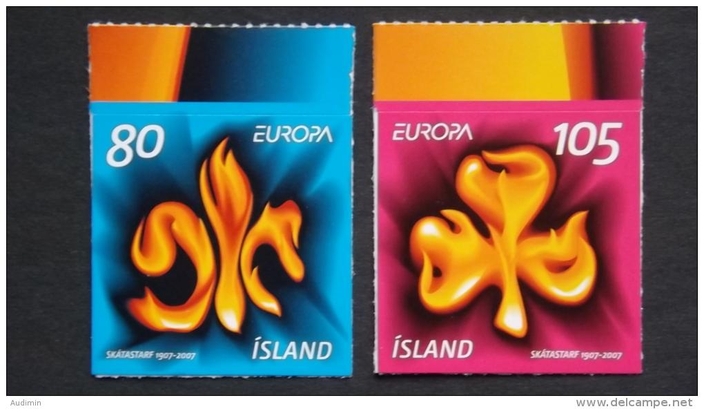 Island 1170/1 Selbstklebend Aus MH **/mnh, EUROPA/CEPT 2007, Pfadfinder - 1944-... Republik