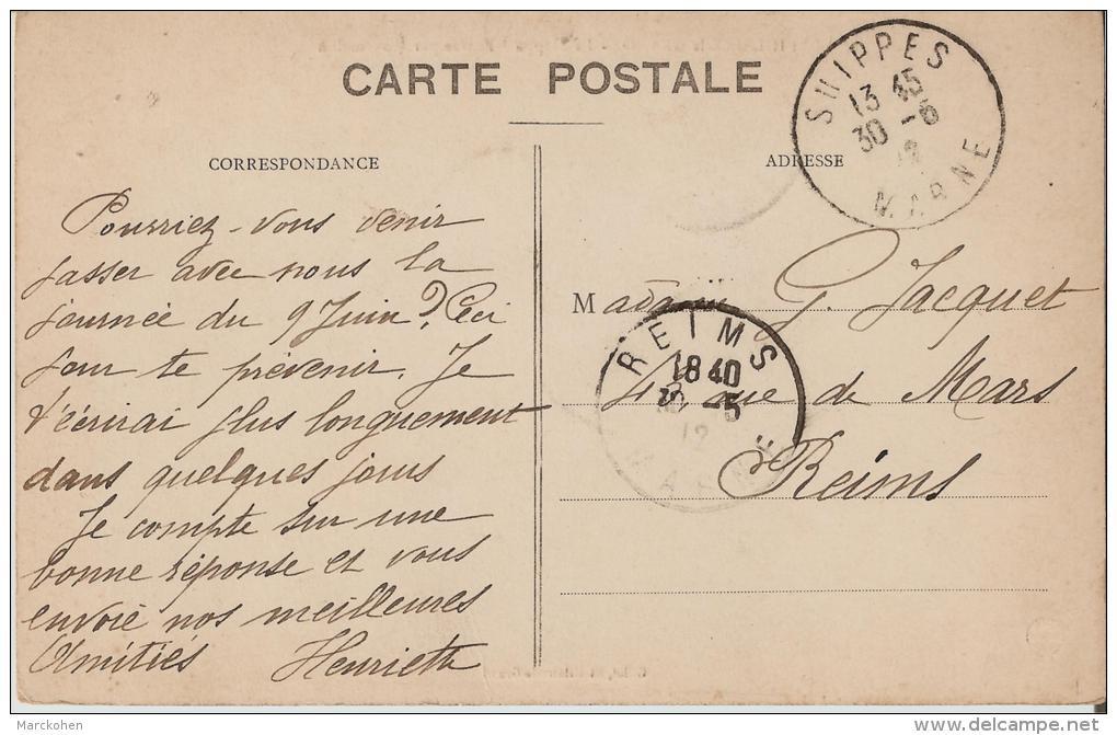 MARNE : St-Hilaire-le Grand - La Rivière Suippe Entrant Dans La Ville Par Mourmelon (photo Rare) - France