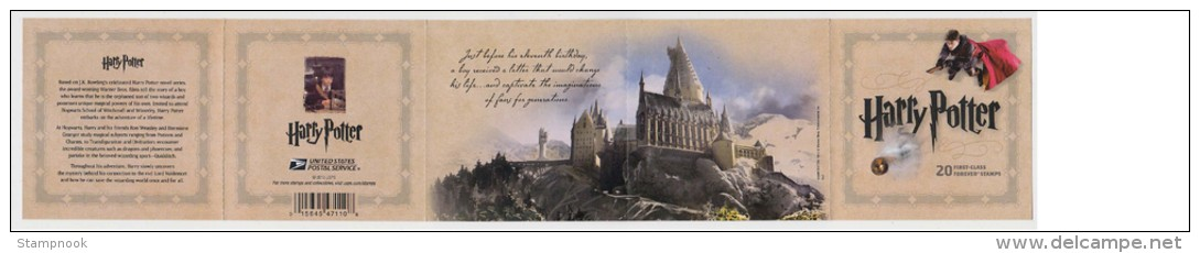 USA Harry Potter Bklt Of 20 Issued Nov 2013 Mint NH - Etats-Unis