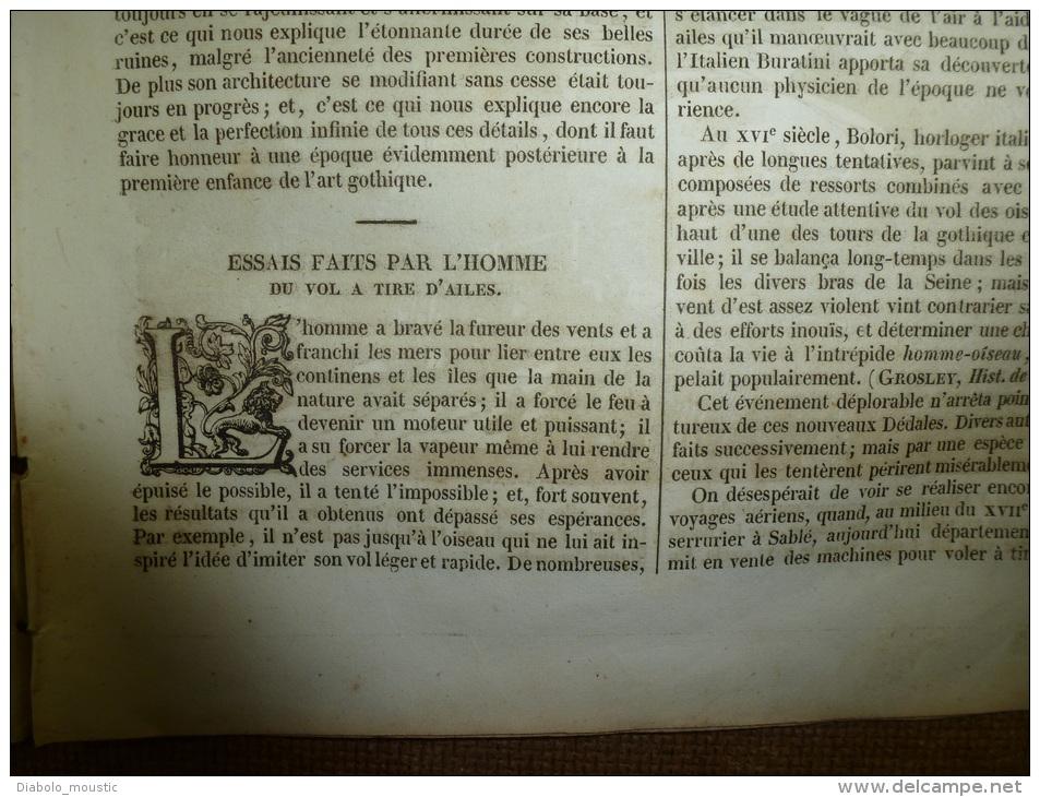 26 Déc. 1833  MAGASIN UNIVERSEL: Abbaye De Jumièges; Théâtre Chinois De Pékin; Homme Volant; HEIDELBERG - Zeitungen