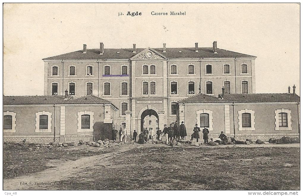 Herault : Agde Caserne Mirabel - Agde