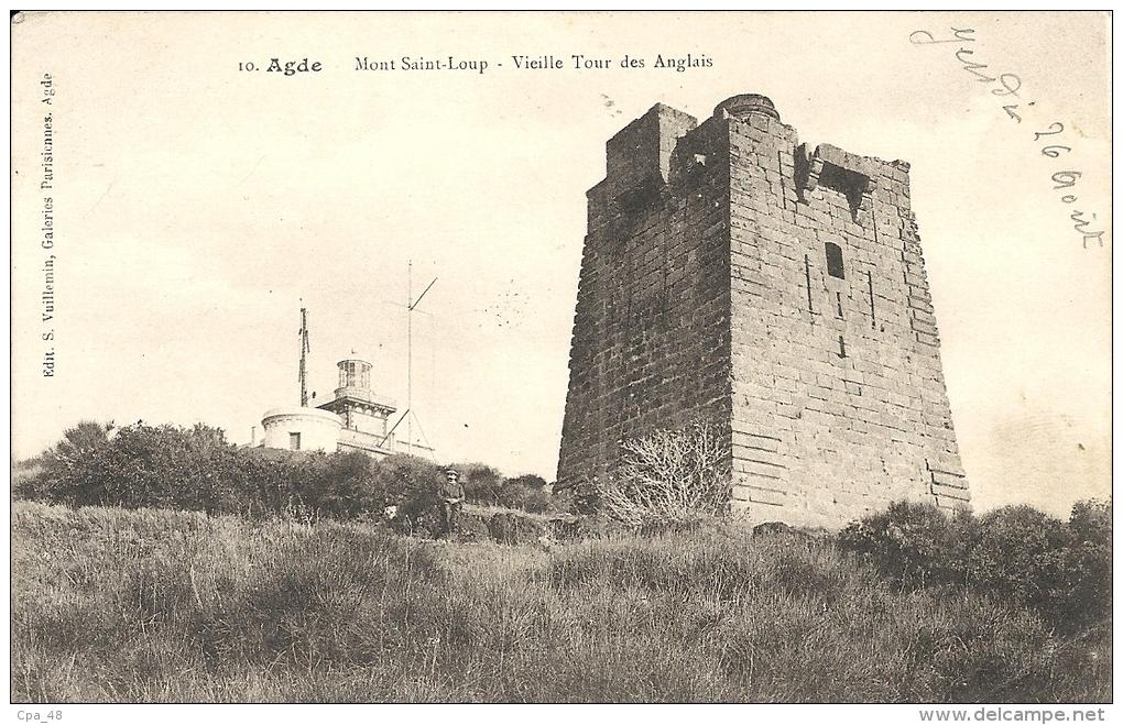 Herault : Agde, Mont St Loup, Vieille Tour Des Anglais - Agde