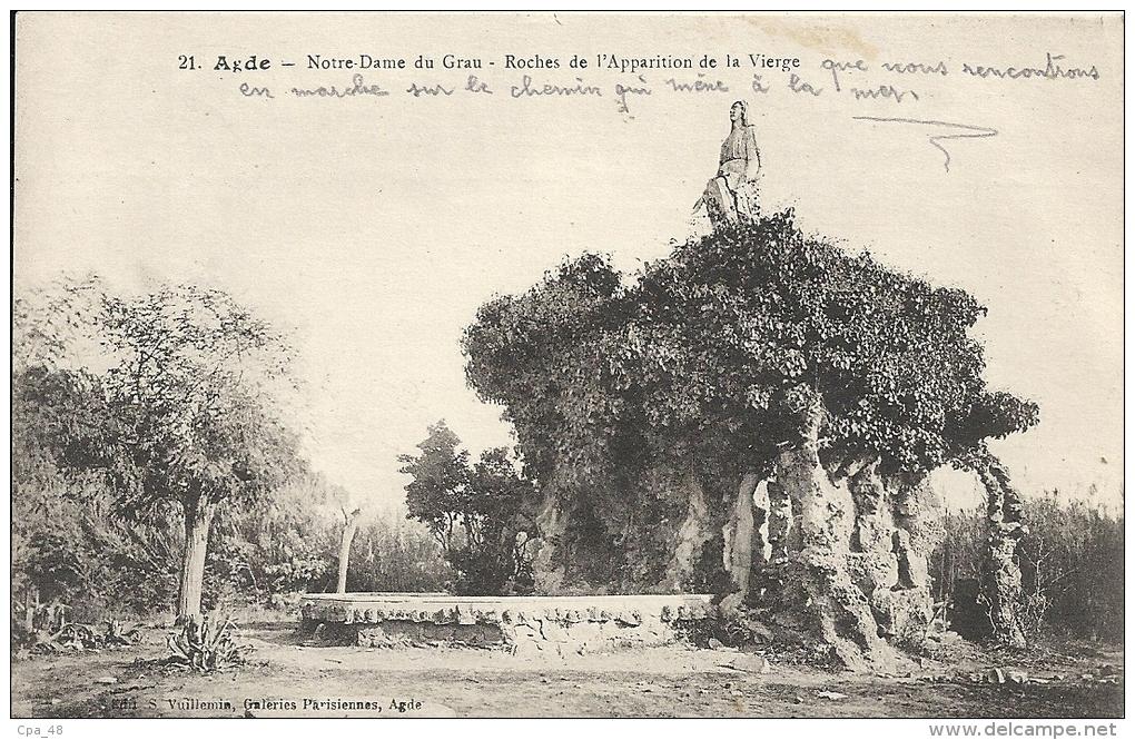 Herault : Agde, Notre Dame Du Grau, Roches De L'Apparition De La Vierge - Agde