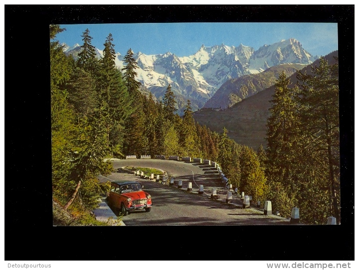Valle D'Aosta Strada Del Piccolo San Bernardo E Monte Bianco Mont Blanc ( Auto FIAT 600 ) - Altre Città