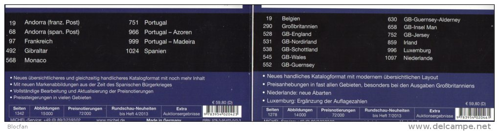 MICHEL Part 2+6 Stamps Europe Catalogue 2013/2014 New 120€ W-Europa UK EIRE B N Lux SW-EU Andorra E F Gibraltar P MONACO - Germany