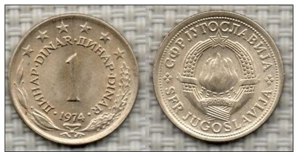 JUGOSLAVIA 1 Dinar 1974. # 2392. - Joegoslavië