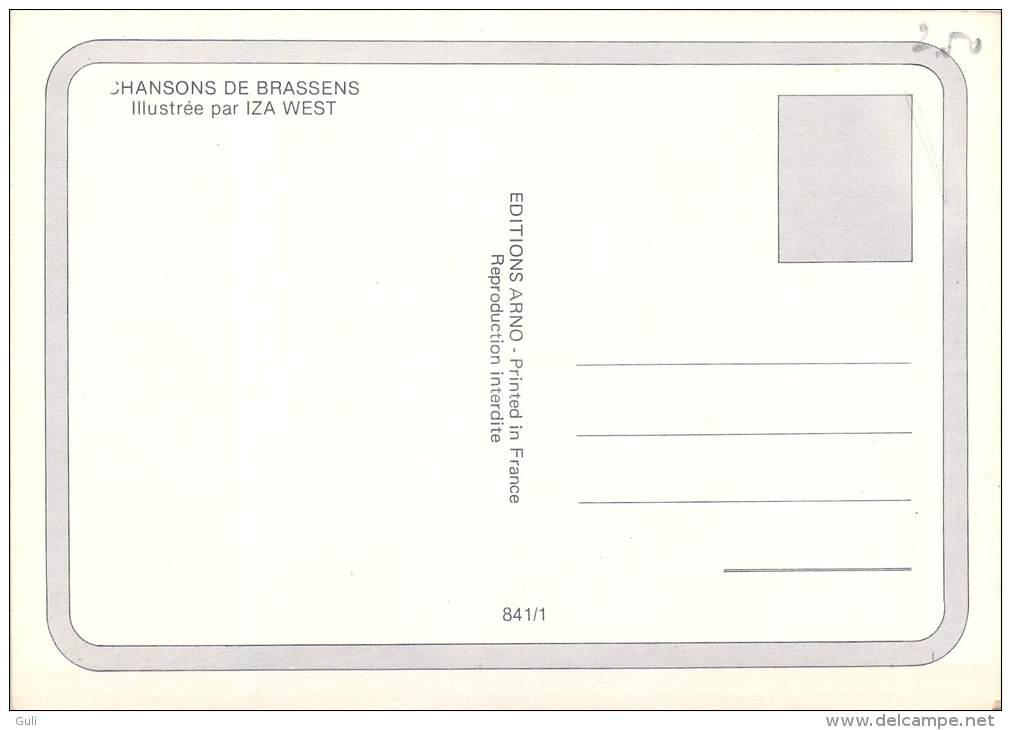 Illustrateur-d´après Illustration IZA WEST Chansons De Brassens Les Bancs Publics *PRIX FIXE - Andere Illustrators