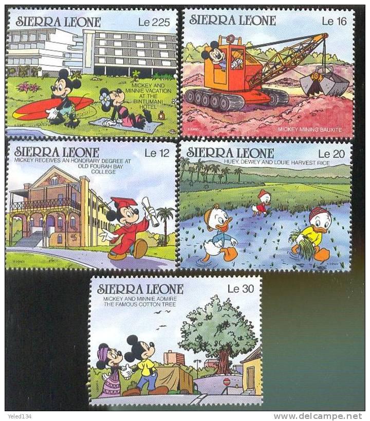 MINT NEVER HINGED SET OF STAMPS OF DISNEY ; SETTINGS IN SIERRA LEONE ;   #  S-639   ( SIERRA LEONE   1194-1203 - Disney
