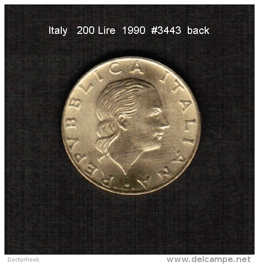 ITALY   200  LIRE   1990  (KM # 135) - 1946-… : Republic