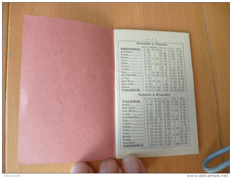 Livre Pub Hotels Menton, Nice, Bourg D'Oisans,Aix Les Bains Horaires Chemins De Fer; Tramway,omnibus Du Dauphiné.32 P - Europe