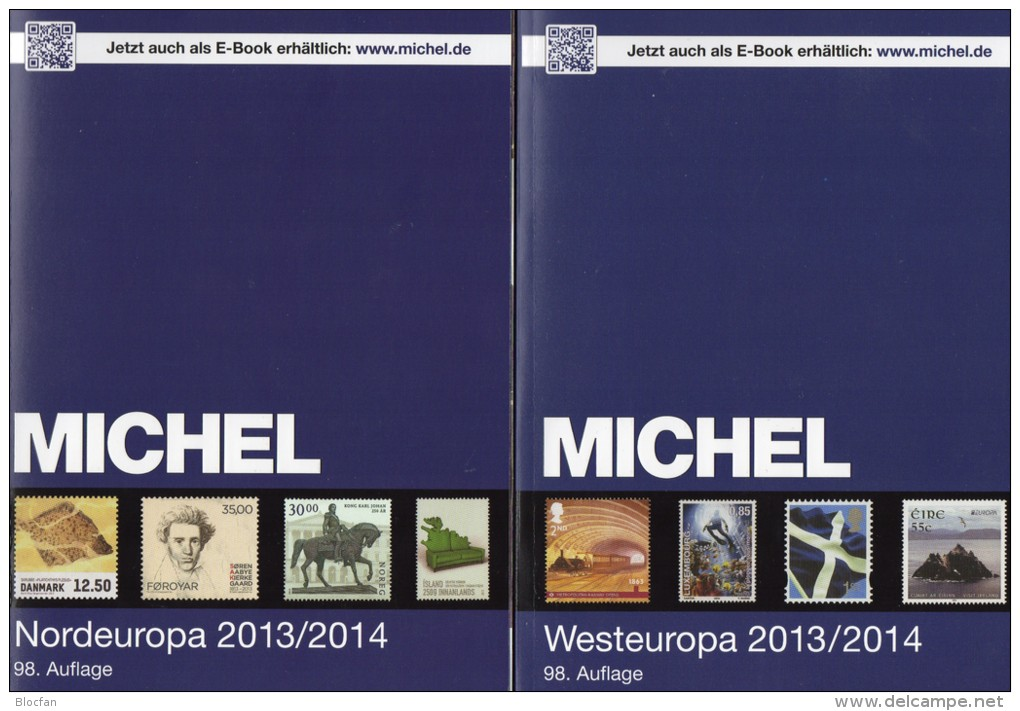 MICHEL Part 5+6 North/West-Europa Stamp Europe Catalogue 2013/2014 New 120€ DK FL Esti Lt Lat Sverige NO UK EIRE B N Lux - Collections