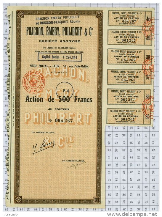 Frachon Emery Philibert Et Boisson Fesquet Réunis - Eau