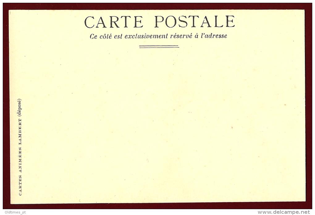 CARTES ANIMEES LAMBERT - CHEVAL DE COURSE - - Silhouettes