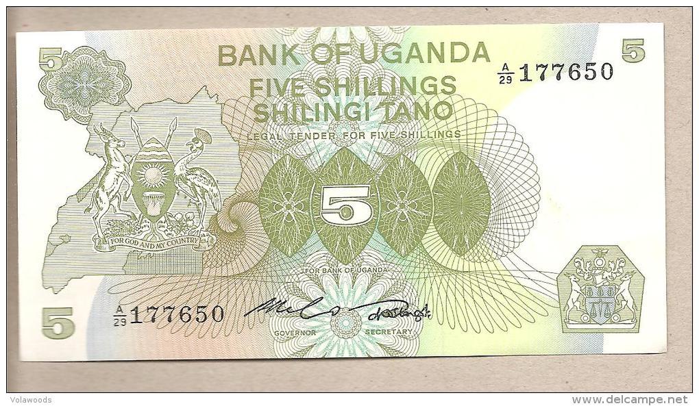 Uganda - Banconota Non Circolata Da 5 Scellini - Uganda