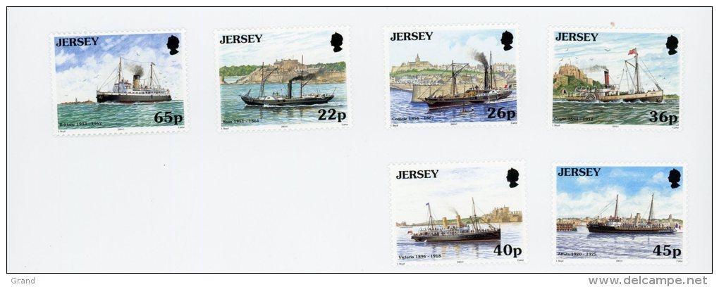 Jersey 2001-Bateaux-YT 960/5***MNH - Ships