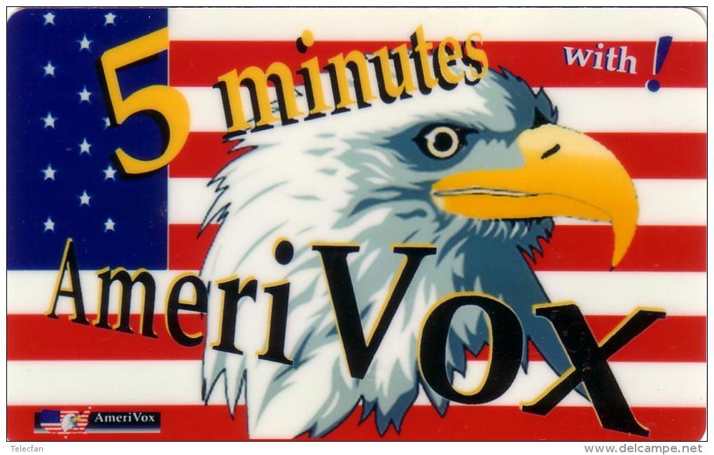 USA AMERICAN EAGLE AIGLE AMERICAIN DRAPEAU FLAG  AMERIVOX 1993 UT - Stati Uniti