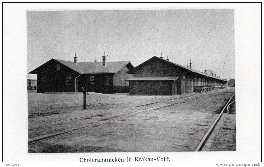 Nr. 484,  Weltkrieg 1914-18, Polen, Krakau-Vbhf.,  Cholerabaracken - War 1914-18