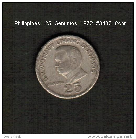 PHILIPPINES    25  SENTIMOS   1972  (KM # 199) - Philippines