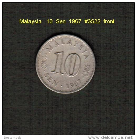 MALAYSIA    10  SEN  1967  (KM # 3) - Malaysia