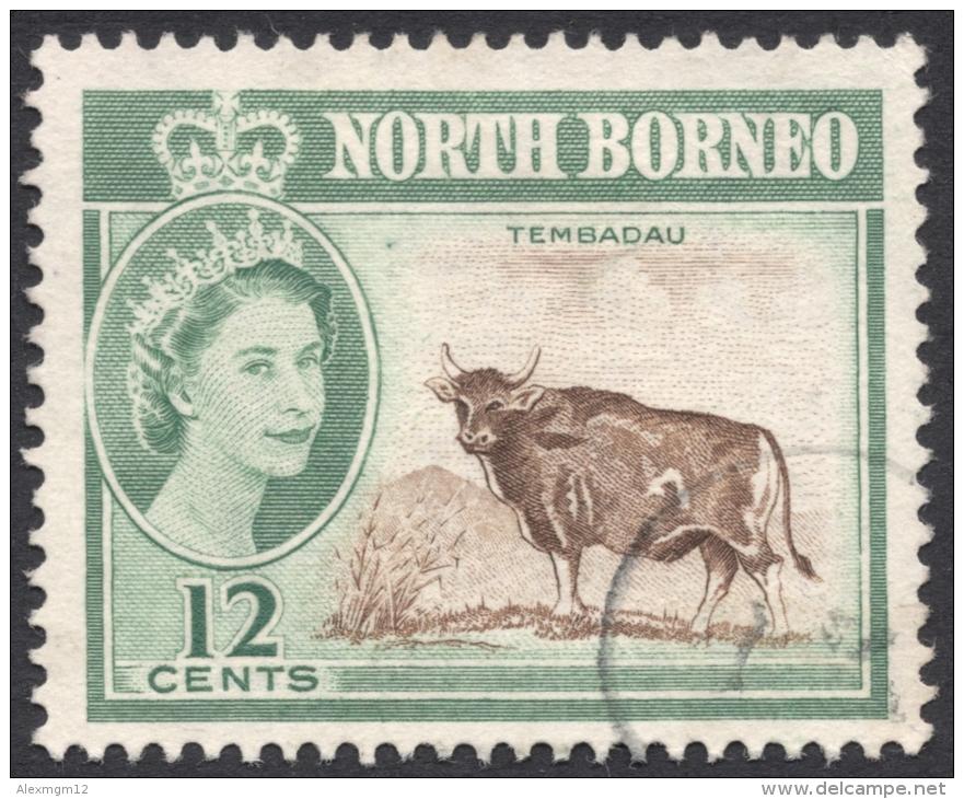 North Borneo, 12 C. 1961, Sc # 285, Mi # 318, Used - North Borneo (...-1963)