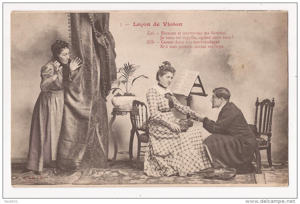 *** LA LECON DE VIOLON N° 3 *** DEMANDE EN MARIAGE *** DOS NON DIVISE *** - Autres