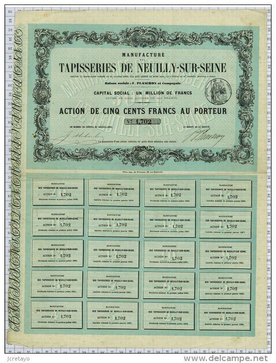 Tapisseries De Neuilly Sur Seine, Planchon Et Cie, 1860 - Textile