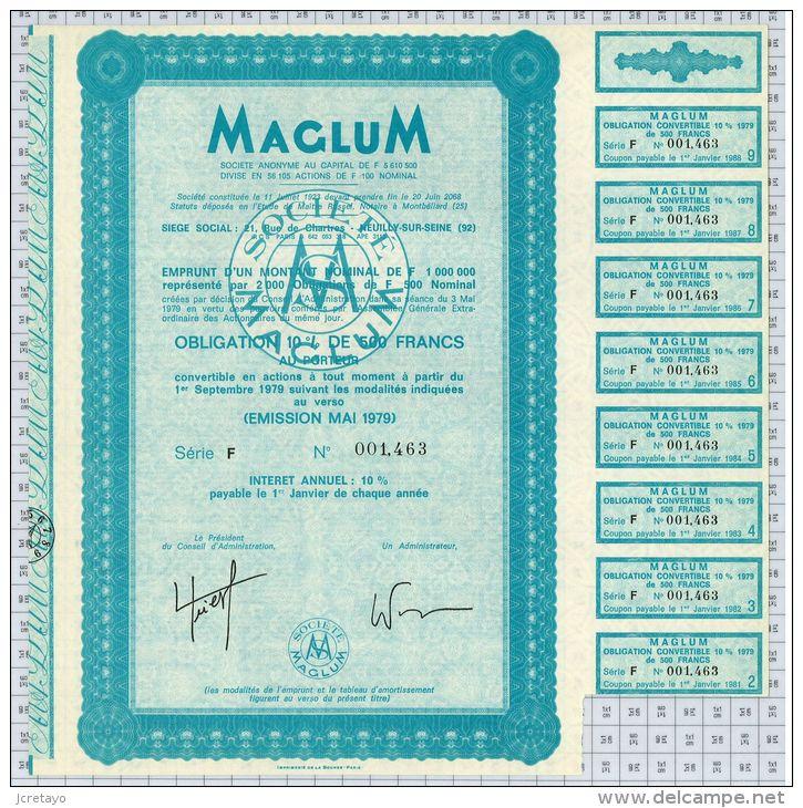 Maglum Electricité à Neuilly Sur Seine, Statuts à Montbeliard, Série F - Electricité & Gaz