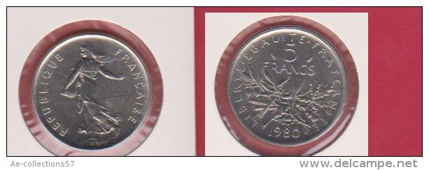 SEMEUSE //  5 Francs 1980 //  état FDC //  Scéllée - France