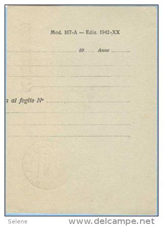 1945 POSTA MILITARE 179 LINEARE + CIRCOLARE 5.10.45 SU PARTE DI MODULO ULTIMO GIORNO D' USO PER SPECIALISTA (C120) - 1900-44 Vittorio Emanuele III
