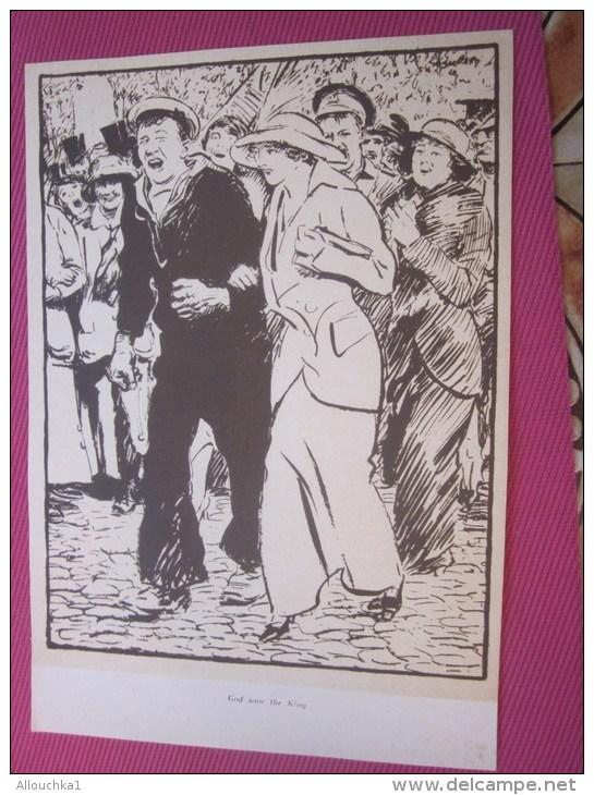 Dessin Caricaturiste-Satirique Humour Anglais Propagande Antiallem Guerre 39-45 Illustré C. Simpson-lGod Save The King - 1914-18