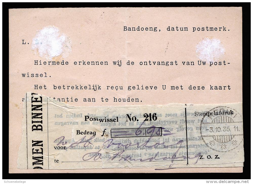 A2542) Netherlands Indies Postcard From Bandoeng 10/05/1935 To Kediri - Niederländisch-Indien