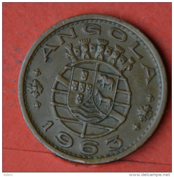 ANGOLA  1  ESCUDOS  1963   KM# 76  -    (Nº04615) - Angola